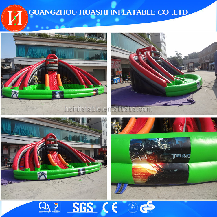 Commercial big water slides for sale , giant inflatable water slide for adults , inflatable slide