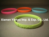 Cheap custom unisex thin silicone bracelet
