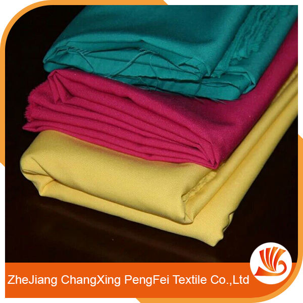 Comfortable plain dyed satin fabric for household