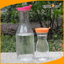 500ml, 750ml 1000ml Plastic Carafe Juice Bottle Pitcher with Clip Lid