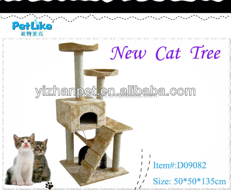 "Deluxe 53"" Cat Tree Tower Condo Scratcher Furniture Kitten House Hammock"