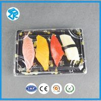 XJT05 foam food sushi tray airline meal packing plastic container with lid