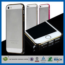 C&T 2015 New Fashion Fancy Metal Bumper Case Cover for iPhone 5s 5
