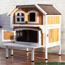2 Story Cat Cottage for Sale Outdoor Cat Houses for Multiple Cats