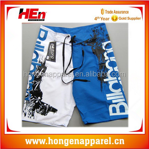 HongEn Apparel Custom wholesale mens cheap surf shorts/ beach shorts/ board shorts with Leg pocket