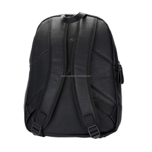 Custom made Branded Large PVC Black Wine School Travel Custom Backpack