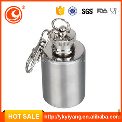 liquor metal leather wine carrier round hip flask YY-MN11