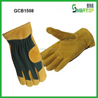 Deluxe Golden cow split leather gloves for handicap