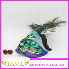 Venetian Masquerade party princess beauty peacock feathers mask