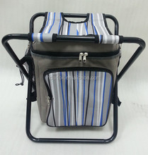 backpack style foldable insulated cooler chair for outdoor camping and picnic