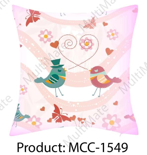cute bird couple printed heart printed love theme printed christmas theme customized cushion covers