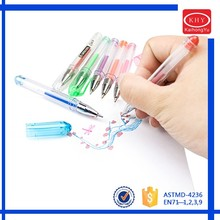 Promotional multi color glitter gel ink pen