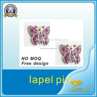 High quality beauty metal butterfly rhinestone angel pins