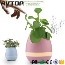 Creative Singing Plastic Flower Pot with LED Light, Smart Music Flower Pot with Bluetooth Speaker