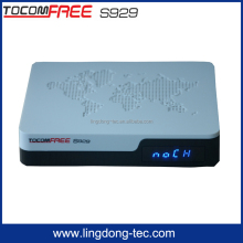 Tocomsat receiver satellite tocomfree s929 with iptv /Azamer S1001sks iks free digital satellite receiver for south america