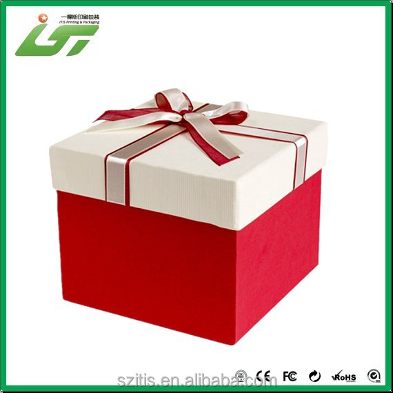 Custom beautiful printing good quality fiber optic christmas decorations gift box