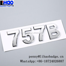 Customized chromed number letters,ABS car emblems,car badges