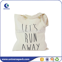 Custom Printed Unbleached Cotton Muslin Shopping Bag With Handle