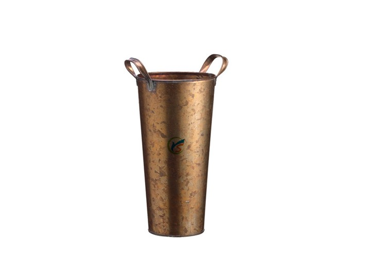 Copper Galvanized Decorative Metal Floor Vase