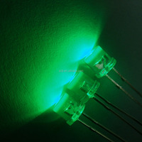 Ultra Bright 5mm Flat Top LED Green Emitting Color Diode