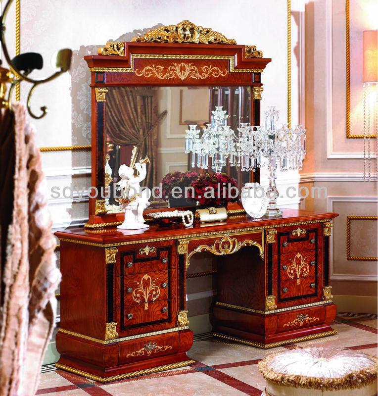 0038-1 Latest Luxury Veneer Bedroom Wood Dresser Designs ...