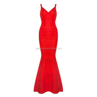 2016 high quality spaghetti stap ruffled red sexy classygraceful luxury full length maxi evening cocktail formal dress wholesale