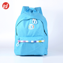 Wholesale multi-use blue women 600D polyester sports day backpack bag