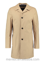 Man's Fancy Beige Duster Windbreak Trench coat