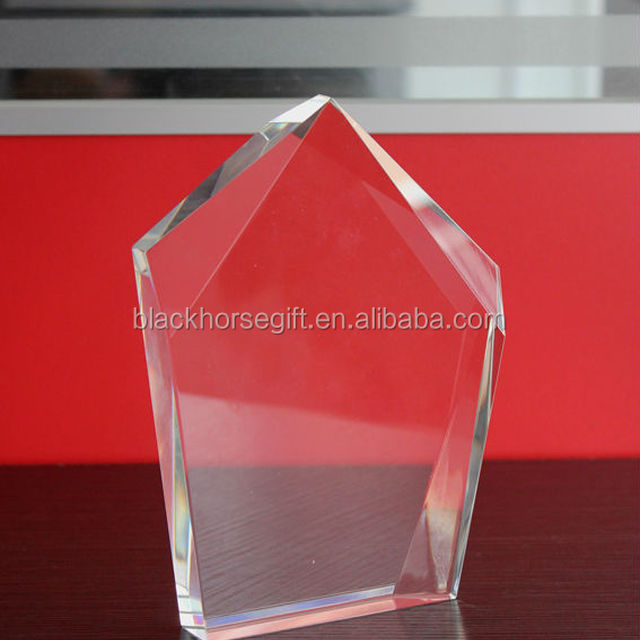 various shape blank glass crystal award plaque