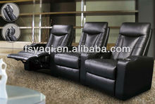 Modern design luxury home theater electric leather motor recliner chair 613