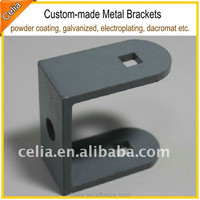 galvaized u shaped steel bracket with stamped hole