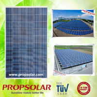 Hot sale 25 kw polycrystalline solar panel price with full certificate TUV CE ISO INMETRO