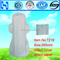 Organic Cotton Feminine Sanitary Napkin/ free sample sanitary towels manufacturer/OEM cheap sanitary pads in Quanzhou