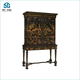Luxury chinese style antique hand painted art hall living room solid wood cabinet