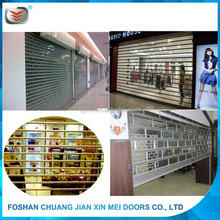 bulletproof transparent PC roller shutter grid rhombus doors