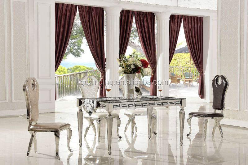 th375 comtemporary tempered glass mirrored dining room