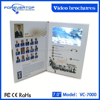 Artifical type new invitation card christmas theme video card