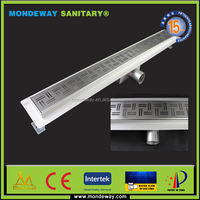 SUS304 Customized PVC Sewage Fittings Ground Leakage Good Quanlity Floor drain channel cover fitting grating WITH GOOD PRICES