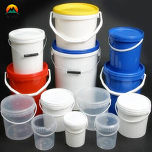 clear plastic packaging round buckets with lids