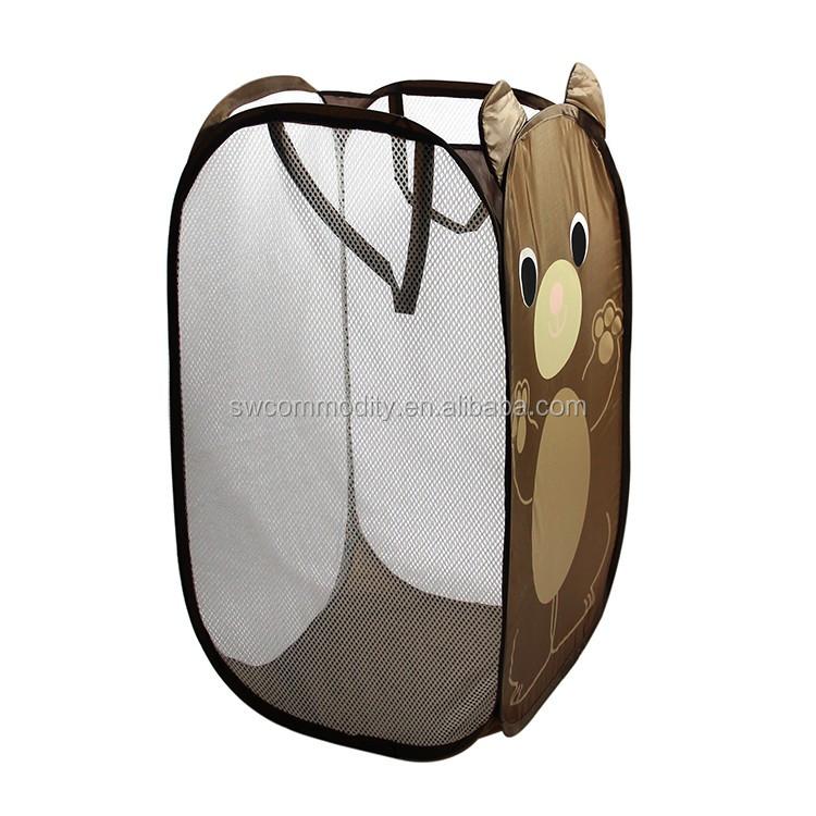 Foldable Pop Up Laundry Basket Hamper Washing Clothes Bag Bin Mesh Storage Buy Pop Up Hamper