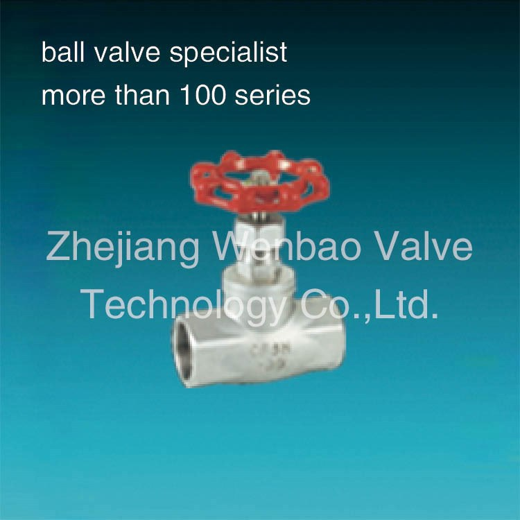 Stainelss Steel threaded type manual globe valve regulating globe valve,2 inch globe valve