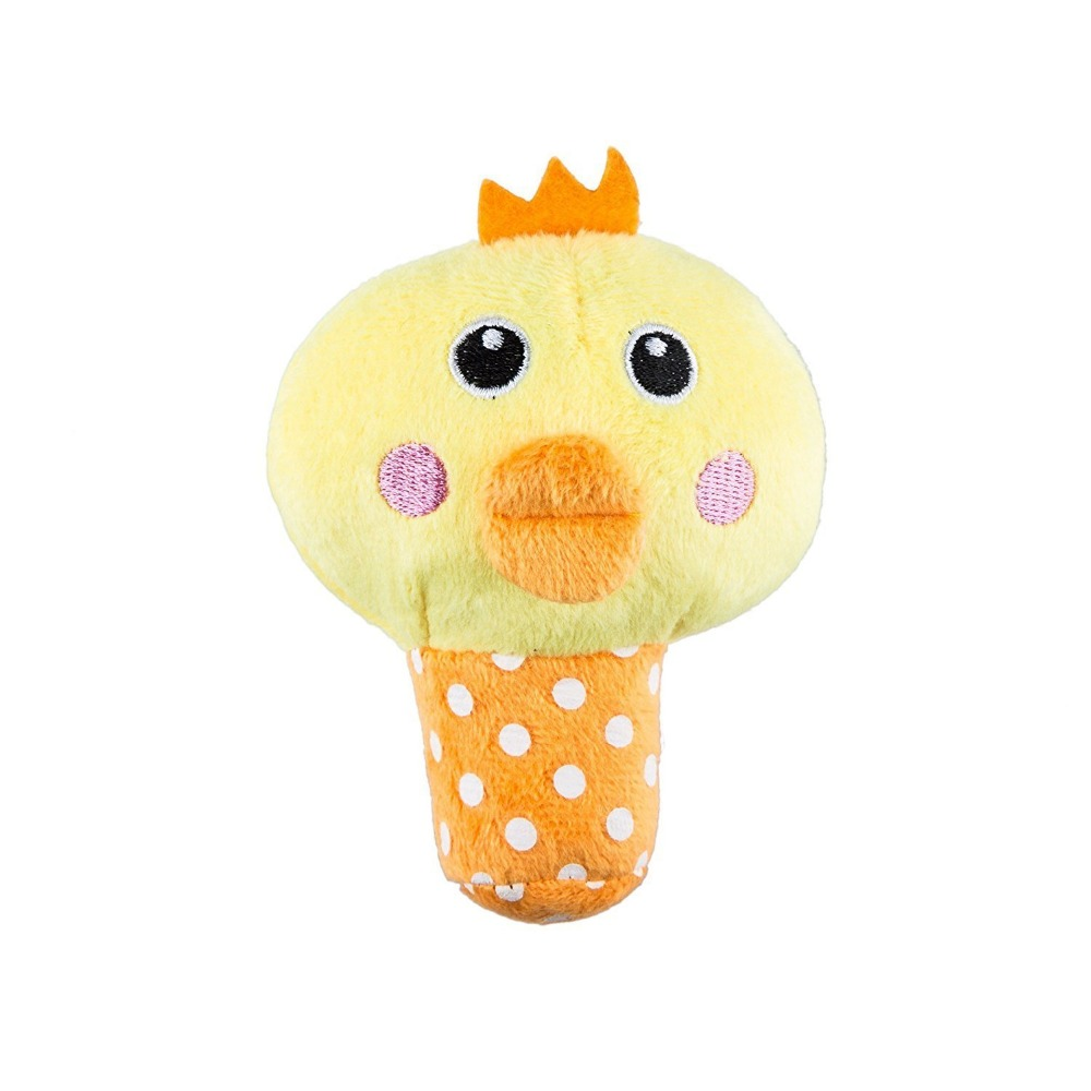 Animal shape squeaky chicken plush dog toy