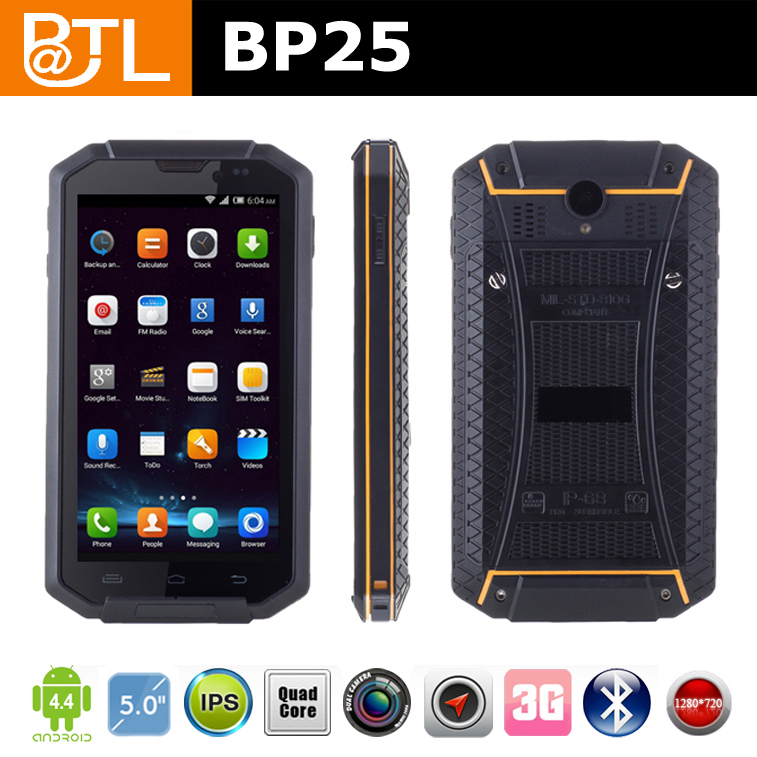 BATL BP25 Quad Core OGS Screen quad core cpu waterproof cell phone mobile phone OEM factory shenzhen Rugged Phone