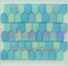 glass mosaic house shape on border (SD015)