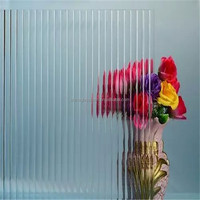 4mm clear color 1900*2200mm ribbed glass pattern glass