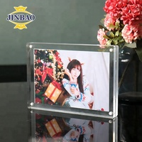 JINBAO Clear Top Insert desktop 4 x 6 Acrylic Photofunia Picture Frame with Magnetic Perspex Frame for Certificate Display