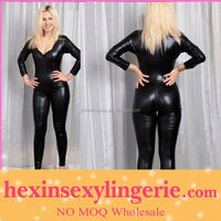 Big stocks sexy cheap faux leather catsuit