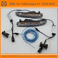 High Powe Super Bright LED DRL Fog Light Excellent Quality LED Daylight for VW Volkswagen Passat CC 2010~12'