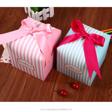 Fashion custom-made fancy paper thanks giving day gift box apple packaging box with ribbon bow