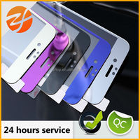 Hot Sale 2.5D 9H 0.33mm Color electroplate Mirror Tempered Glass Screen Protector for Iphone mobile phone